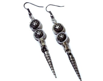 Cyberpunk Earrings - Silver