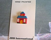 School House Button - JHB Carded- Price per Card