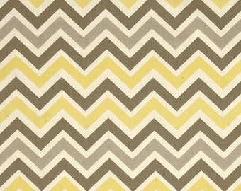 CHOOSE SIZE RUNNER  - Zigzag yellow tan and natural Zoom chevron table runner decor wedding bridal showers
