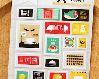 Paper Stickers (P185.18 - Bon Appetit)