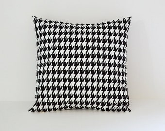 Pillow Cover Black Pillow Cover Houndstooth Pillow Decorative Pillow 8 Sizes Available Cushion Cover