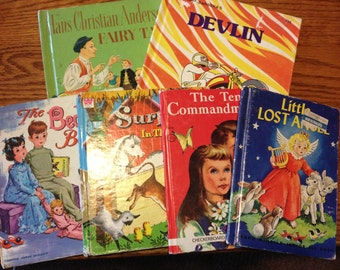 Six vintage children's books 1950s to 1970s