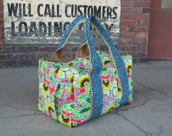 Bright and beautiful Weekender Duffel Bag made to order