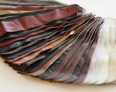 Set no8 36 pcs Leather Samples  scraps Mixed Colors