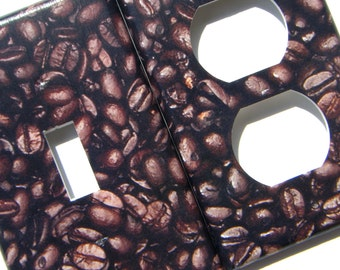 Coffee Beans Light Switch Cover Outlet Cover Switchplate