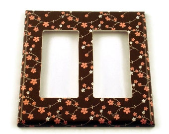 Double Rocker Light Switch Cover  Double Switchplate  Switch  Plate in  Amandla  (147DR)