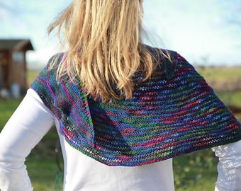 Farbenfroh- a PDF knitting shawl pattern