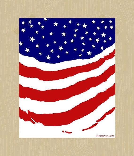 Items similar to American Flag Print American Printable ...