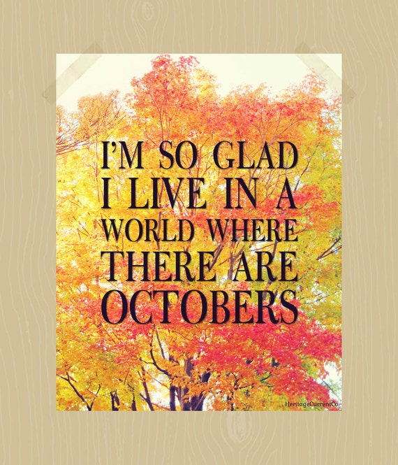 Items Similar To Fall Quote Printable I'm So Glad I Live