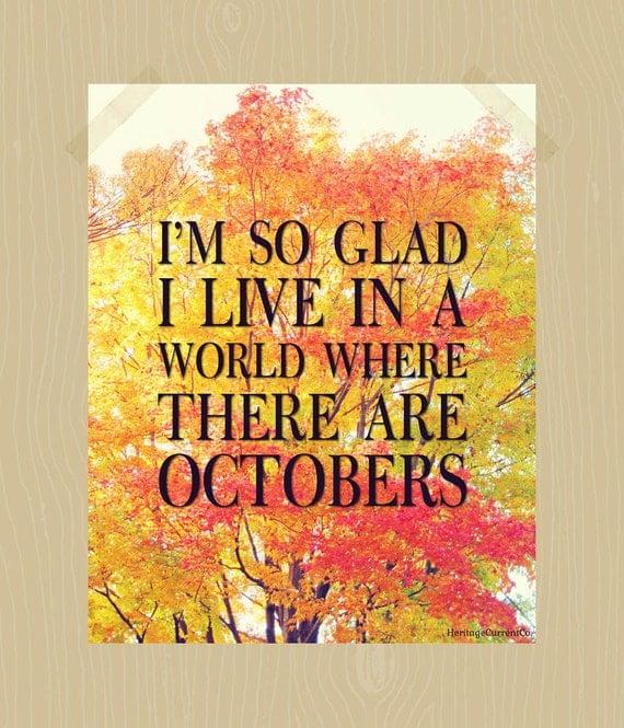 Autumn Phrases: Items Similar To Fall Quote Printable I'm So Glad I Live