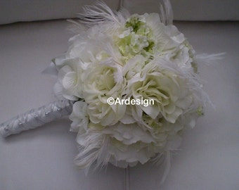 SWAN SONG Wedding Feather Bouquet