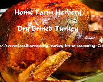 Turkey Dry Brine Seasoning easy t use on poultry, pork or any kind of meat. Order now