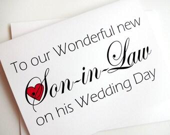Son-in-Law Wedding Card
