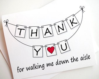 Thank You for Walking Me Down the Aisle Card