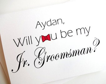 Jr. Groomsman Card - Personalized - Will you be my Jr. Groomsman?