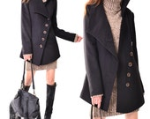 Less is More - wood buttoned quilted cashmere jacket (Y3120)