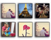 Photo Canvas Package using your Regular or Instagram photos  QTY 6   8X8's