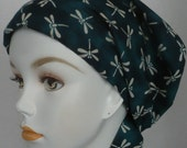 Teal Dragonfly Cancer Hat Chemo Scarves Head Wrap Hair Loss Turban Headcovering Bad Hair Day Hat