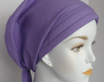 Orchid Chemo Cancer Scarf Cotton Turban Hat Cotton Bad Hair Day Head Wrap Covering