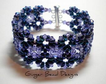 Swarovski Tanzanite Crystal Beaded Bracelet