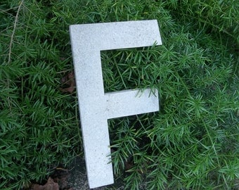 Vintage Letter F Architectural Salvage Fragment Metal Sign Letter Antique Old Building Fragment Signage Industrial Alphabet Rustic Initial