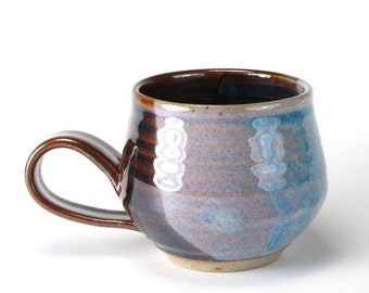 Plum Brown And Twilight Blue Mug