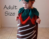 Adult Costume Halloween Chocolate Covered Strawberry Teen Womens Dress Up Photo Prop Food Costume Cosplay