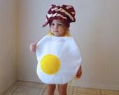 Kids Costume Childrens Costume Halloween Costume Egg Bacon Boy Girl Food