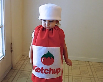 Kids Costume Childrens Costume Halloween Costume Ketchup Costume