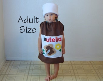 Adult Costume Nutella Halloween Costume Hazelnut Spread Photo Prop Funny Costume Dress Up