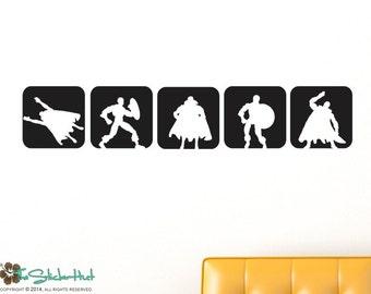Superhero - Vinyl Squares - Vinyl Lettering - Theme Nursery - Kids Bedroom Decor - Vinyl Wall Art Graphics Decals Stickers 1658