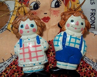 raggedy ann and andy ornaments