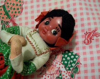 traditional dress folk art cloth doll