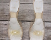 Career Girl Springolators Lucite Heels 8.5-9-9.5