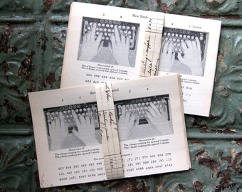 Vintage Antique How to Type Pages, Paper Ephemera Pack, 20 Pieces, 5x8