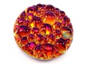 1 Volcano 18mm Bumpy Top Low Dome Glass Cabochon, Round, Color Changing, Color Shifting Flat Back Stone
