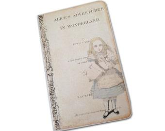 Alice In Wonderland Travel Journal, Facsimile Alice Journal, Drink Me  Kraft Journal, Alice Journal, White Rabbit, Mad Hatter