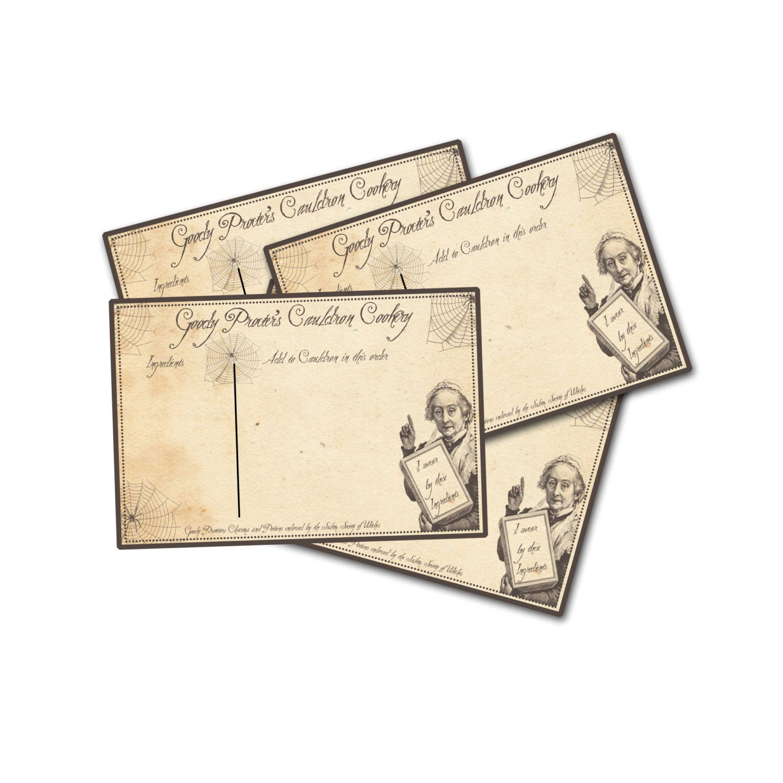 halloween recipe cards halloween crone witch recipe card
