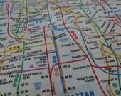 NYC Subway Map- 2 Standard Pillowcases