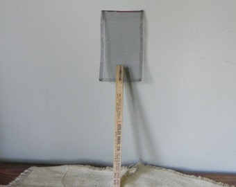 Vintage Boy Scouts  collectable fly swatter metal and wood - tuberculosis society and gas company advertising home decor