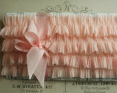 Nude Pink Soft Fluted Chiffon Lingerie Ruffles 40 Inches Handmade Sewing Trim