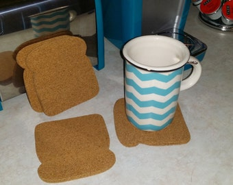 bread slice coasters