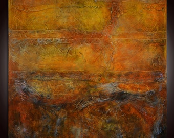 Original Abstract Painting,Brown Painting,Abstract Painting,Orange Red Painting,Textural painting,textural abstract,golden