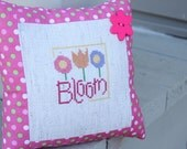 Decorative Pillow Pink Bloom Flowers Girls  - Ready to Ship