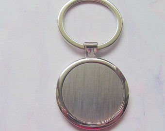 5 Round Metal Key Chain Blanks DP528