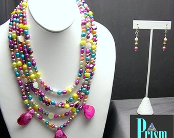 Festive Freshwater Pearl Necklace Set