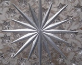 Dresden Trim 2 Large Silver Stars Made In Germany Die Cuts Christmas