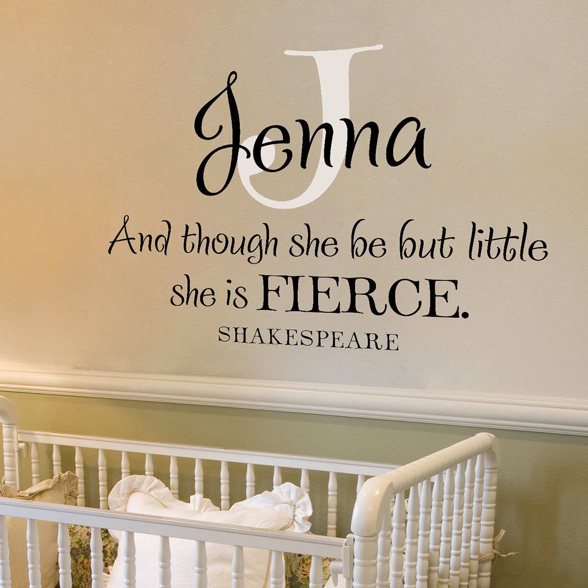 Shakespeare What Is In A Name Quote: Personalized Girl Wall Decals And Though She Be But Little
