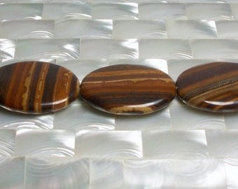 Jasper, Beads, Gemstone Beads, Striped Beads, Brown Beads, Jewelry Supplies, Jewellery Supplies