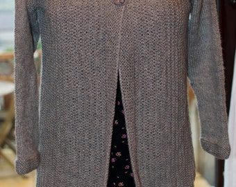 Handknitted Cardigan in Grey